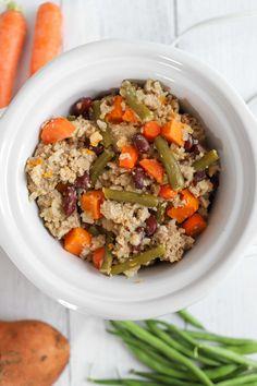 Dog Vegetables, Veggies, Ground Turkey Slow Cooker, Cooker Dog, Large Slow Cooker, Homemade Dog Food, Green Beans, Dog Food Recipes, Cooking