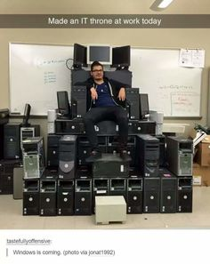 IT throne - more at http://www.thelolempire.com