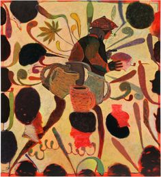 Ryan Mosley, Persuits of a Scholar. 2012 Öl auf Leinwand 210 x 190 cm