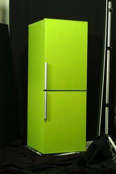 黄 緑 冷蔵庫