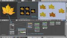 Colores aleatorios con cycles en Blender. Imagen del proceso.
