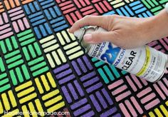 How to Paint a Recycled Rubber Outdoor Mat - Hoosier Homemade Outdoor Rubber Mats, Outdoor Floor Mats, Outdoor Rugs, Outside Door Mats, Rubber Door Mat, Entry Mats, Creative Crafts, Kid Crafts, Creative Ideas