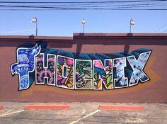 Mural by Colton Brock, Lalo Cota, Angel Diaz, Pablo Luna, and J.B. Snyder ~ Phoenix, AZ