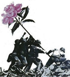Flower Power    An 1960's anti-war poster produced during the Viet Nam War.