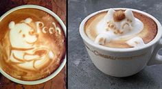 Amazing #Japanese #CoffeeArt - Watch the gallery: http://www.finedininglovers.com/blog/out-of-the-blue/amazing-japanese-coffee-art/