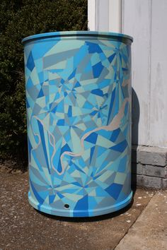 Painted Rain Barrels: Pretty and