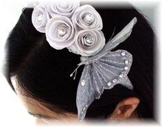 fairy+tale+bridal+headpieces | Fairy Tale Wedding Headpiece by AbunchofScrap