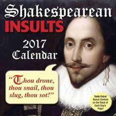 Shakespearean Insults 2017 Calendar