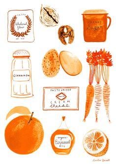 carolinedowsett The makings of a tasty Carrot cake! by hellocarolinedowsett.tumblr.com www.carolinedowsett.co.uk Thanks to eatsleepdraw for ...
