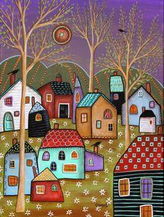 karla gerard art: Newest Paintings Pop Art, Karla Gerard, Art Fantaisiste, Contemporary Wall Art, Arte Popular, Naive Art, Whimsical Art, American Art, Art Lessons