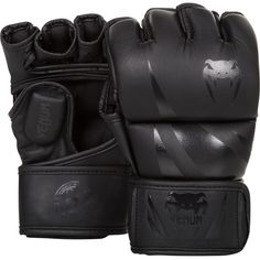"Venum Challenger MMA Gloves - Black/BlackIf you want a good price-quality ratio with a distinctive style then you ll go on the ""Challenger"" MMA gloves!These durable PU leather MMA gloves are perfect both to train and fight.With their high density. Martial Arts Gear, Martial Arts Workout, Mma Gloves, Boxing Gloves, Boxing Boxing, Karate, Mma Training Gloves, Mma Gear, Warriors"
