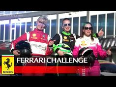 In 2017 Ferrari Challenge Europe there are three ladies competing in the Ladies Cup, a subclass for the Coppa Shell category. Superstar, Affair, Ferrari, Rapper, Challenges, Europe, Baseball Cards, Lady, Youtube