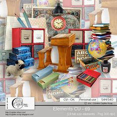 CAJOLINE-SCRAP: Elements CU - 69