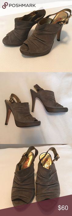 Michael Kors Gray Heels Michael Kors Gray Heel'ed Booties! Worn a couple of times, great condition and super comfortable! Style no longer made! Great for all seasons! KORS Michael Kors Shoes Heels