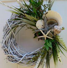 Beachy Wreath with Shells Shells Shells by BeachyWreaths on Etsy, $43.00