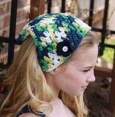 Tween Headband Summer Hair Kerchief Spring by foreverandrea,