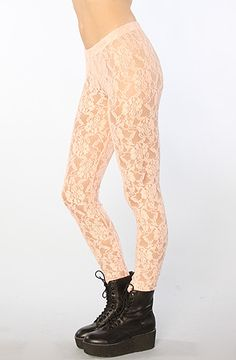 The Lace Legging in Pink by Joyrich