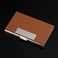 Elegant Whiskey Chic Business Credit Card Holder and Case for Men New with Box