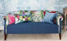 Virágos kanapé 1327 - Hárombors