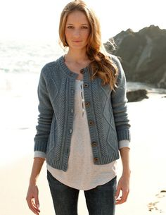 Cable Cardigan, from Celtic & Co