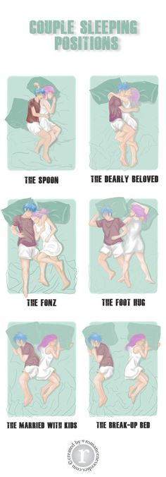 The Best and Worst Sleeping Positions For Couples.....we're the foot hug!