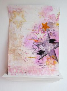 stars and watercolors - art journal inspiration