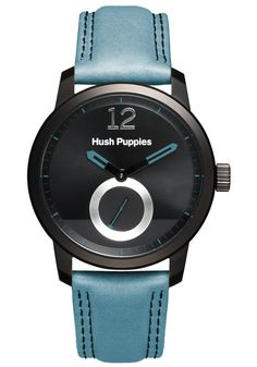 Hush Puppies Freestyle Men's Automatic Watch with Black Dial Analogue Display and Blue Leather Strap HP.3780M.2503: Amazon.co.uk: Watches
