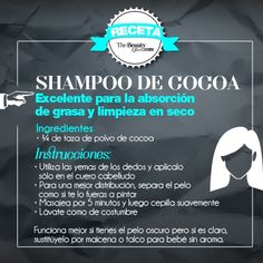 Cocoa Shampoo, recipes, hair, beauty. www.thebeautyeffect.com