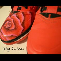 I decided to paint on a different canvas. Custom painted shoes by Bago  Customs   b3dafaa1c