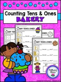 Counting Tens and Ones - Bakery {Freebie} by Polliwog Place Kindergarten Classroom, Teaching Math, Teaching Resources, Maths, Classroom Ideas, Counting Activities, Free Activities, Elementary Teacher, Elementary Schools