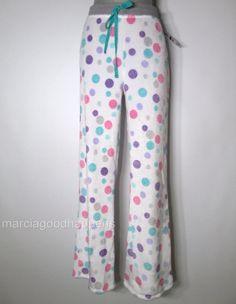 New Jenni Pajama Supersoft Fleece Pajama Pants White Dots XL Jennifer Moore #JennibyJenniferMoore #LoungePantsSleepShorts