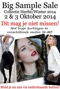 Sample Sale Herst WInter 2014 -- Amsterdam -- 02/10-03/10