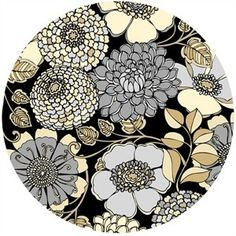 Exclusively Quilters, Shades Of Grey, Floral Bunch Black Pottery Painting Designs, Paint Designs, Ceramic Painting, Painted Ceramics, Plate Art, Japanese Patterns, Sgraffito, Ceramic Design, Bottle Art