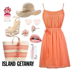 """""""Island getaway"""" by victorsboutique ❤ liked on Polyvore featuring Charlotte Olympia, Mar y Sol, Quay, Marc Jacobs, 1928, womensFashion and islandgetaway"""