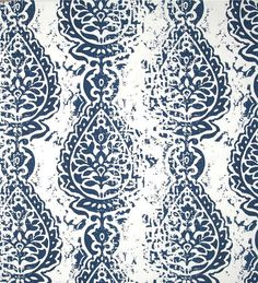 Farmhouse Navy Blue Cotton Bolls Fabric Designer Cotton Drapery Curtain Fabric Or Upholstery Fabric Southern Country Navy Indigo Fabric C334