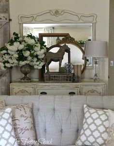 The Fancy Shack: New Living Room Furniture-- Part One ***Entryway layering ideas***