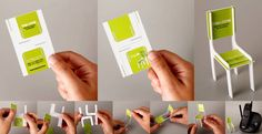 Design muito criativo do cartão de visitas da Tok e Stok loja de moveis e decoração.
