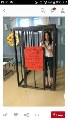 Copy Paste Earn Money - Home made 4 x 6 x 6 (height) wooden jail cell. The idea . - Copy Paste Earn Money – Home made 4 x 6 x 6 (height) wooden jail cell. The idea is that people pa - Earn Money From Home, Earn Money Online, Buck And Doe Games, Ontario, Dance Marathon, Jail Cell, Prison Cell, Relay For Life, School Fundraisers