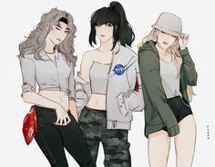 V, Jungkook and Jimin Girls version ~
