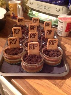 The dessert for our Nightmare Before Christmas/ halloween party. Chocolate…