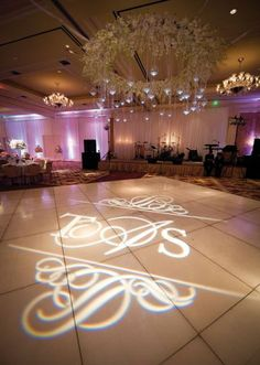 LOVE this for the dance floor The bride and groom's monogram by Beyond lights up the dance floor! Photo by Edmonson Weddings