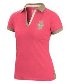 169add95b9 This Coral   Taupe Argyle Logo Polo is perfect!  zulilyfinds Saia Plissada