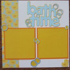 Baby bath scrapbook page   Ashley's Adventures: Baby Boy Scrapbook Gifts
