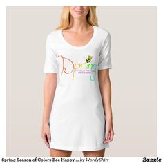Spring Season of Colors Bee Happy T-shirt Dress