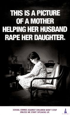 This Is A Picture Of A Mother Helping Her Husband Rape Her Daughter..Some Women Ignore The Abuse or Try Tot To Notice It! But When You Do That You Are Not Only Witnessing It But You Are Also Inflicting The Abuse.  #Stop #Domestic #Violence