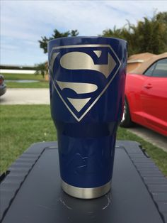 Superman Custom Powder Coated Cups! No Stickers No Vinyl! 100% Powder Coat! Need a Cup, Hit me Up! The Cup Plug!