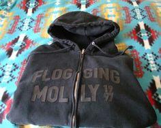 Vintage 1997 Flogging Molly Black Hoodie RARE Large Black Celtic   eBay