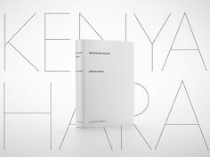 'Designing Design' book by Kenya Hara _