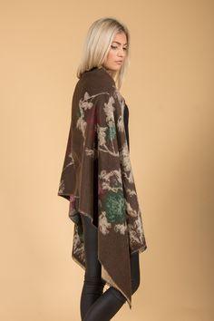 Jayley Cashmere Wrap | Brown Print Wrap