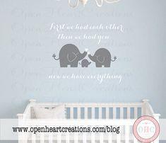 Elephant Family Wall Decal Nursery Elephant Wall Decal Baby Boy - Nursery wall decals elephant